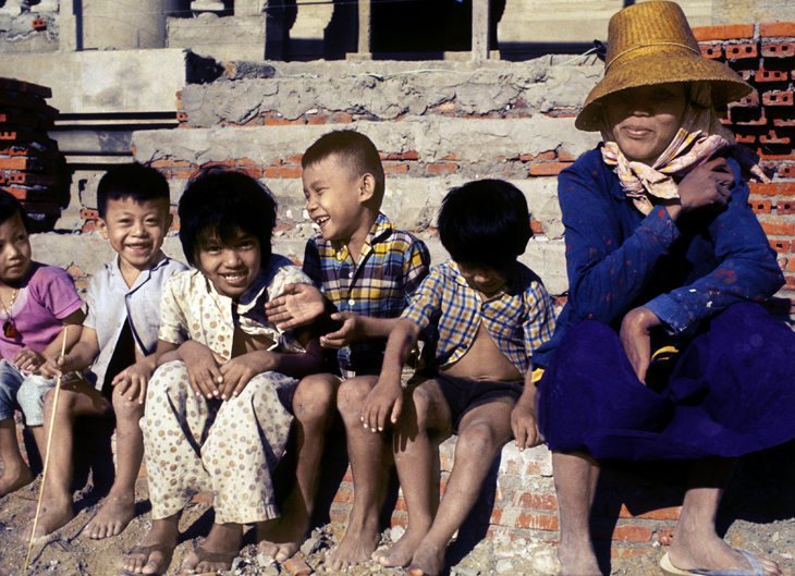 1972 - Young Children with Woman