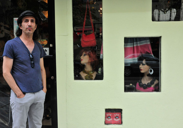 Man at Door of Hair Dresser - New York City